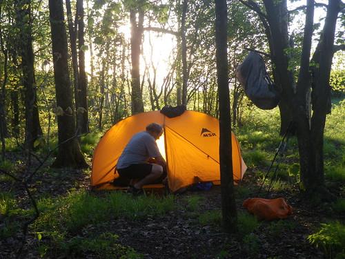 Rick @ his Tent