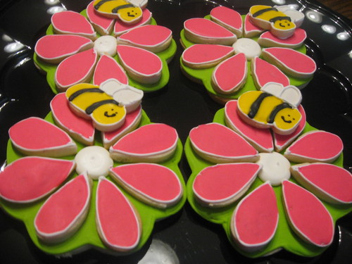 Giant 3d flower cookies