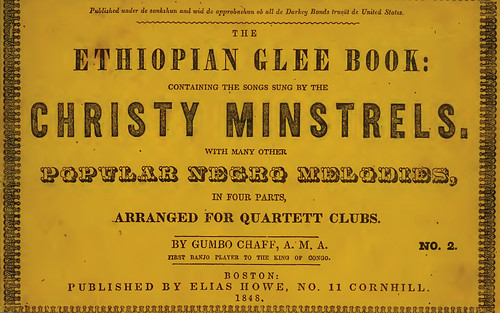 Cover- Ethiopian Glee Book-Christy Minstrels 1848