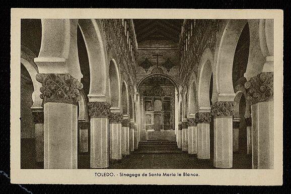 Sinagoga de Santa María la Blanca a comienzos del siglo XX.