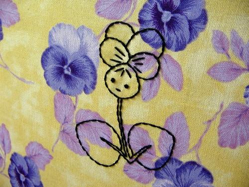 restless violet--looking sideways
