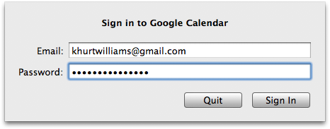 Sign in to Google Calendar