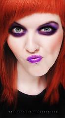 Blueberry lips (basistka) Tags: portrait woman girl poland lips redhead blueberry basistka
