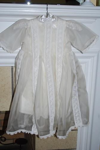 """New"" baptism gown - back"