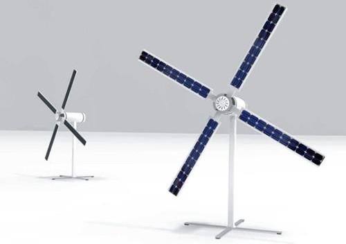 Cargador solar-eólico