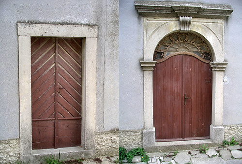 The doors of Draguć