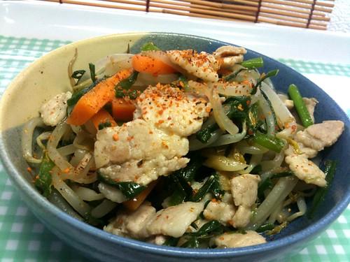 #jisui 豚バラと野菜のナンプラー炒め!ガラムマサラ美味え!色調再補正!