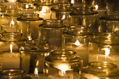 Mission San Juan Bautista candles
