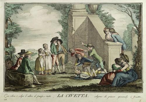 019-El buho- Giuochi Trattenimenti e Feste Annue Che si Costumano in Toscana 1790- Giuseppe Piattoli