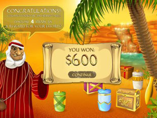 free Desert Treasure gamble bonus game