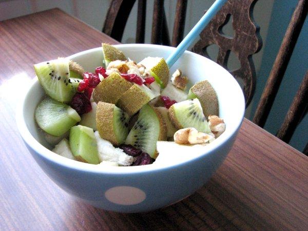 Färgfylld sommarfrukost