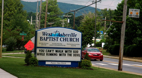 'You can't walk with God...'