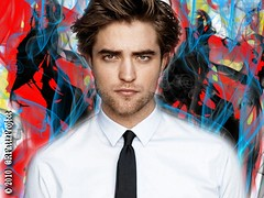 Wallpaper:  [1024 x 768] Robert Pattinson's GQRob goes Abstract