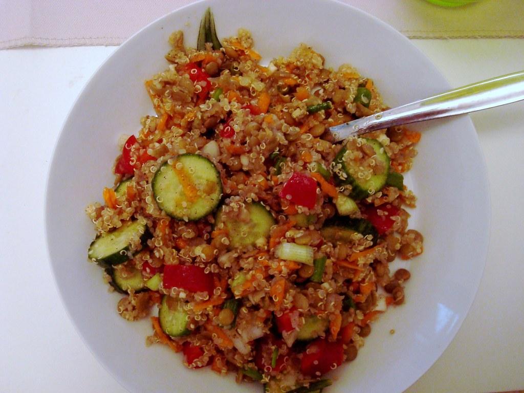 Lentil/quinoa salad