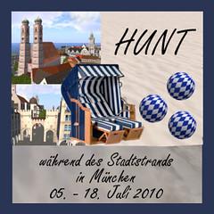 Plakat Hunt Stadstrand Muenchen