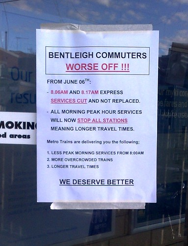 Bentleigh timetable rebellion
