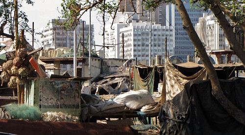 Urban Slum in Abandoned Boats