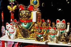 Chinatown Maneki Neko (zoonabar) Tags: cats film chinatown manekineko velvia50 招き猫 canoneos33