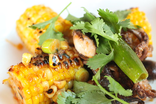 Wok Charred  Baby Octopus with Corn 2