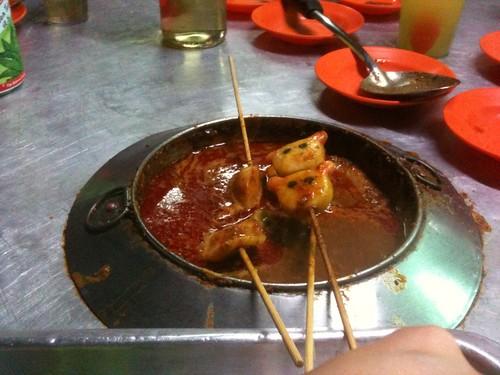 In Malacca, don't waste Satay sauce