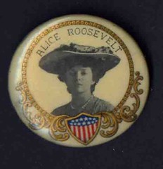 ALICE ROOSEVELT PINBACK (THE ENIGMATIC TRAVELER) Tags: usa antique political pins button republican democrat pinback celluloid campaignpin pinbackbutton campaignbutton