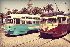 Port of San Francisco street cars (CLCsPics) Tags: california portofsanfrancisco buslines