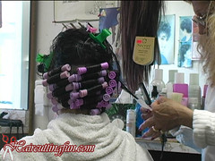 leah_woman_foam_perm_video_05 (Perm716) Tags: girls set curly roller salon perm rods