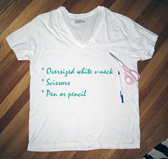 T-shirt DIY+Bathing suit slub cover up -1