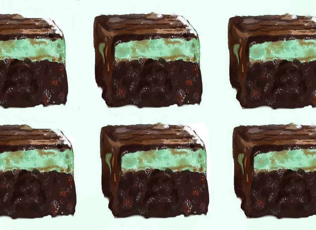 """""""Chocolate Mint Fudge Brownies""""  A """"Shiny"""" Treat for """"CP"""" to eat"""