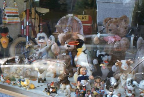 1960s Storefront Window Vintage Toys Store Shop Switzerland