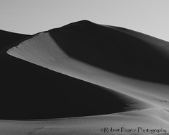 Dunes, Death Valley.  March 17, 2010 (Robert Pearce Photography) Tags: california light shadow blackandwhite bw monochrome landscape march nationalpark sand desert dunes deathvalley 2010 nikond200 robertpearce robertpearcephotography