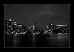 New York City (Jutiar) Tags: nyc newyorkcity nightphotography usa newyork skyline us nikon unitedstatesofamerica dumbo brooklynbridge eastriver slowshutterspeed d90 nikond90 jutiar wwwjutiarphotographycom