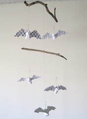 bat mobile (jikits) Tags: art mobile bat papier mache bats