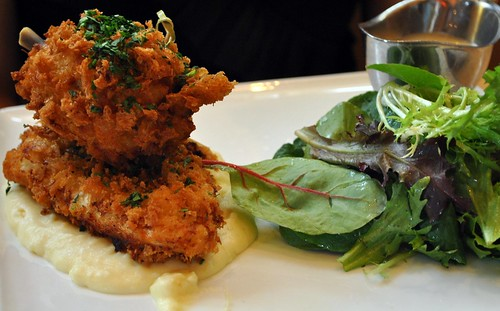 fried chicken with mashed potatoes @ Central, Michel Richard