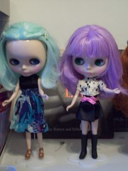 Lisette & Lavinia (dreams of Violets) Tags: toys dolls barbie pullip blythe