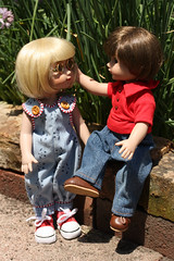 Tender moment (Rigib) Tags: love canon garden michael doll 60mm 10inch annestelle roberttonner img1793