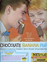 Chocolate Banana Pop (sugarpie honeybunch) Tags: magazine advertising 60s chocolate ad banana 1960s seventeen nestles