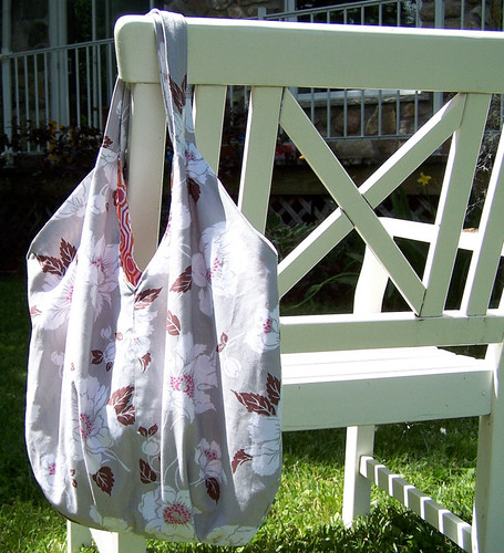 Carry All Bag on White Outdoor Chair