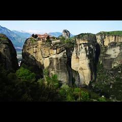 The Monastery of Holy Trinity (Gregor  Samsa) Tags: mountain snow church view hill holy greece monastery trinity overlook orthodox kalambaka kastraki monasteryofholytrinity kastrki kalambka