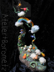 the Sheep Hill (borometz) Tags: color art wool monster pumpkin toy rainbow sheep vampire bat craft felt plush fantasy needlefelting legend  mythology myth handcraft   needlefelted             atelierborometz       in