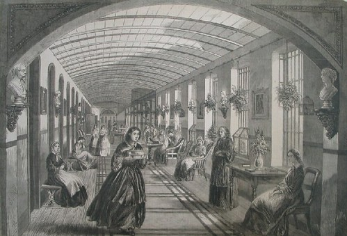 The female ward at Bethlem Hospital in the 1860s