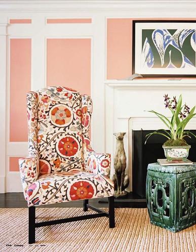 suzani chair - lonny