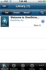 Overdrive for iPhone
