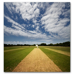 22 Yards. Cricket Cloud Porn Vertorama. (s0ulsurfing) Tags: pictures uk trees summer england sky cloud sunlight game green english sports field lines sport june clouds island photography amazing skies bright britain wide perspective picture fluffy wideangle symmetry cricket photograph vectis isleofwight 7d match pitch british batting sporting isle cloudporn nube stumps sportsman wight meteorology 2010 batter nephology wicket cricketers 10mm batsman leadinglines howzat cricketfield sigma1020 batsmen s0ulsurfing porchfield vertorama canon7d freshwatercc gggggreaaaaaaaaaaaaaaaat 22yds twentytwoyards