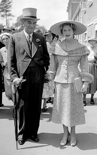 Royal Ascot 1955; fashion, clothes, style, outfit, vintage, photo, 1910s, 1920s, 130s, 1940s, 1950s, 1960s