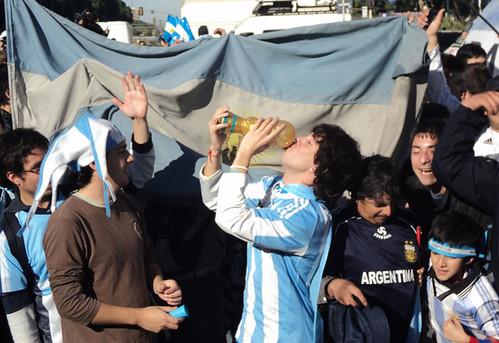 Festejo en el obelisco gana argentina