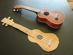 Ukulele and Cardboard Ukulele (amsun) Tags: art creativity ukulele cardboard