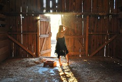 The Barn (LexiRae) Tags: sunset black abandoned barn model straw hay dust filtered motes