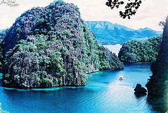 The most photographed spot in Coron (JeneaWhat) Tags: ocean travel sea film nature water island xpro crossprocessed scenery paradise seascapes natural pentax philippines spotmatic coron agfaprecisa palawan kayangan