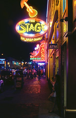 (yyellowbird) Tags: city signs girl night lights neon nashville tennessee broadway cari jacks ilovethisplaceforsomereasonevenifitstouristyidontcare